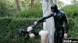Lucy Latex can't live without a inflexible shaft