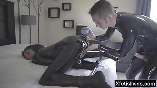 Arousing porn latex fetish