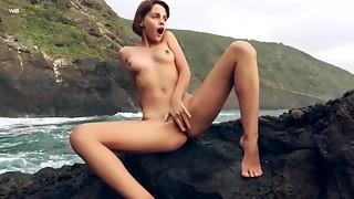 Sexy Slender Young slut Outdoor Erotic Solo