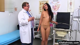 Corpulent Doctor And Nude Young slut Gal