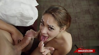 Latin 18-years-old mating with specie discharged
