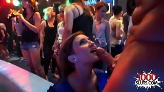 Massive drunk sex fuckfest in intimate club