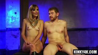 Sexual porn actress s&m and cumshot