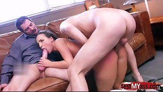 Very Chick porn hottie double pounding with cum discharged