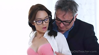Sweetie gives her teacher sex gratification