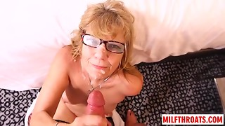 Sexy mother try-out and jizz flow
