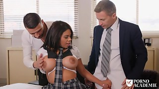 Nasty Schoolgirl With Large Love melons