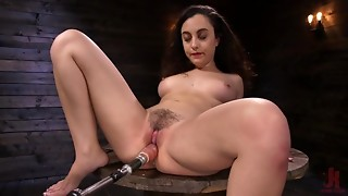 Youthful Lady With Hawt Corpulent Thighs Getting Pounded By Sex Machine