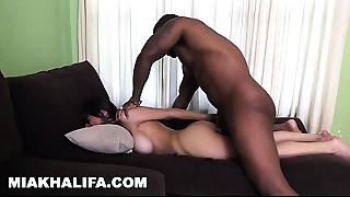 MIA KHALIFA - Big breasted Arab Beauty Tries A Big Darksome Knob And Can't live out of It