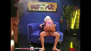Nice-looking Blond MILF with Large Natural scoops Acquires Cum overspread