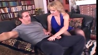 Succulent Golden-haired Mama Wishes Coarse Sex With Younger Guy