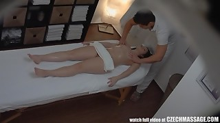 Excited Red Head Angel Acquires Drilled by Masseur