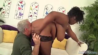 Hot ebony fattie Marliese Morgan acquires drilled hard
