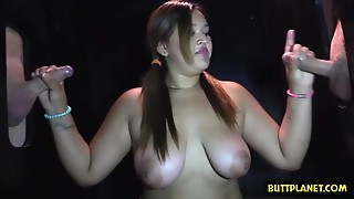 Large jugs porn star blowing ramrod with stud milk in throat