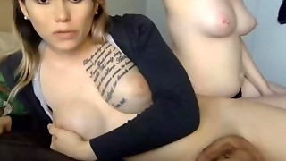 Female Gives Tgirl Blowjobs and Rimjobs