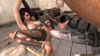 Avid brutal ace fuck penetration in 3D S&m episode