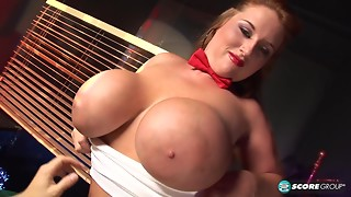 See obese Brandy getting screwed betwixt her big breasts. HD