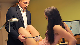 LOAN4K. Slender miss pays with lovemaking for realization of...