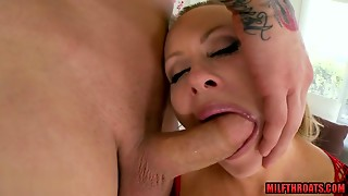 Large love muffins housewife hard bang with facial
