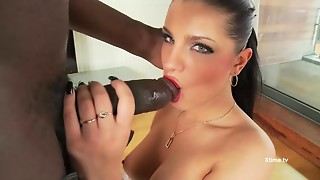 POV anal: interracial wazoo copulate coitus with maid