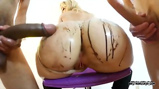 2 hard ramrods in blondie hair playgirl bitch