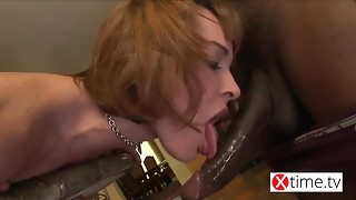 Youthful Sweetheart Pamela getting punishing by a huge nigger