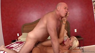 Burly And Unattractive Grandad Bonks Big breasted Stepdaughter In Doggy