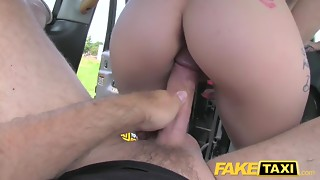 Sexual Dad With Gigantic Weenie Copulates Lascivious Mother I'd like to fuck In Taxi