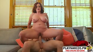 Aged Mom Andi James Gives Titjob Nice Touching Ally