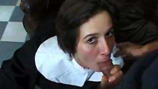 nun at work