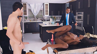 Darksome Web camera Hooker Copulates Real Chap At Brazzers Stay-At-Home Bitch