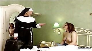 German Nun Tempt to Shag by Prister in Classic Porn Episode