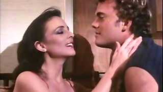 Hawt smokin' dark-haired lady acquires drilled and DP as well