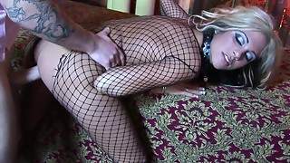 Lengthy haired hooker Carmel Moore receives hammered doggy position