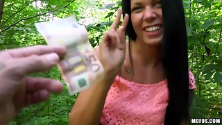 Large Creamy Spunk flow For Russian Angel In Czech Woods