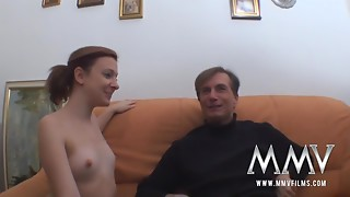 Youthful German Young slut With Miniature Scoops Acquires Screwed By Senior Dad