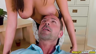 Anissa Kate rides rod b4 fucking rod with her large natural breasts