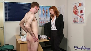 Pervy Doctor Explodes With Massive Jizz Discharge Over Ginger Girl's Face