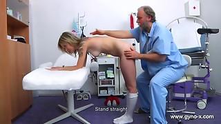 Older Doctor Engages Detailed Full Body And Slit Medical Scrutiny