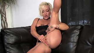 Lewd golden-haired mother I'd like to shag marital-device shag to intensive solo big O..