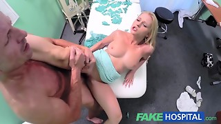 Breasty blond comes to hospital to acquire a full investigation