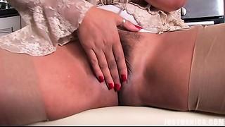 Spying On Auntie Danica Masturbating