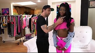 Ebon teenie fuckdoll Kandie Monae receives smashed coarse by Hookup Hotshot