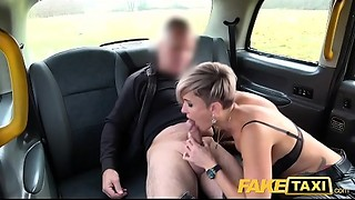 Fake Taxi Russian short haired tattooed squirting golden-haired MILF screwed