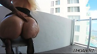 whoaboyz - Alexis Andrews large 48in Wazoo copulates a 12in BBC