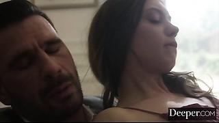 Deeper. Mischevious Elena Koshka Playfully Seduces Her Allies Father
