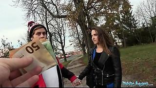 Public Agent Amirah Adara Copulates a stranger whilst her BF waits