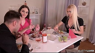 Marie Clarence invites Kitana Lure for a boyfriend three-some