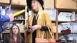 Young slut and her grandma one as well as the other acquire busted for shoplifting