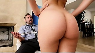 BANGBROS - Perfect ass white girl Step Daughter Aidra Fox Takes Control Of Dad